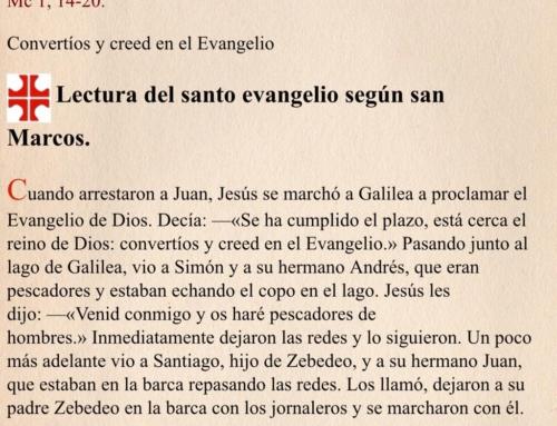CUMPLIMIENTO Y RUPTURA  (Mc 1, 14-20)